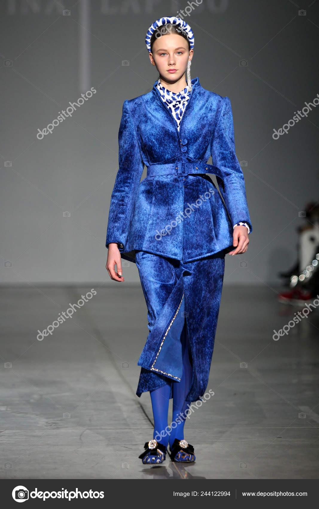 95f72e8303b Kyiv Ukraine February 2019 Kristina Laptso Collection Show Ukrainian Fashion  — Stock Photo