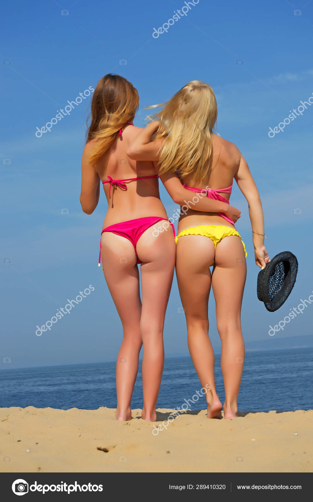 Girls In Thongs On The Beach Stock Photo C Rrraum 289410320 The thong is a garment generally used as either underwear or as a swimsuit in some countries. girls in thongs on the beach stock photo c rrraum 289410320