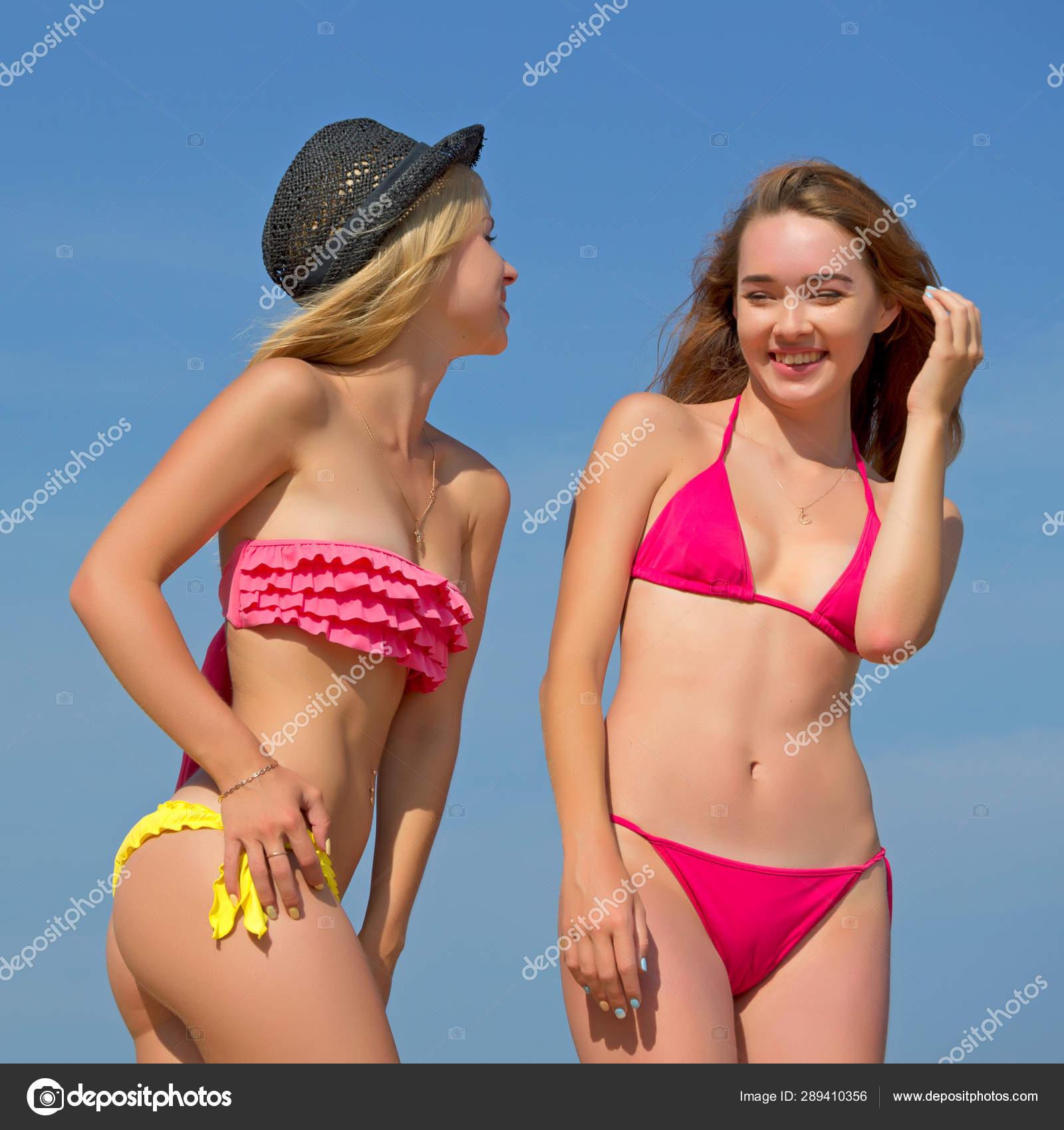 Bikinis hot girls in Two Girls
