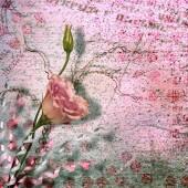 Fotografia cartolina depoca per invito con un mucchio di belle rose