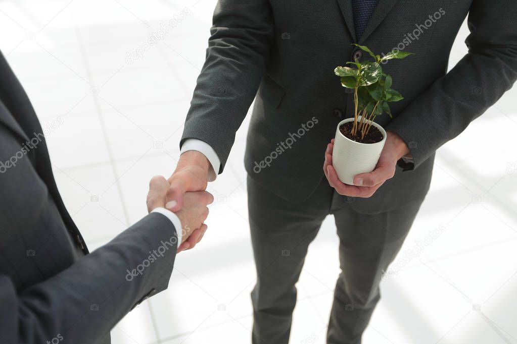 close up.handshake business people