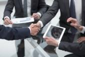 Fotografie Business men making handshake. Business concept.
