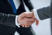 up.reliable zavřít handshake obchodních partnerů