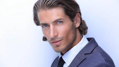 closeup.portrait of confident business man