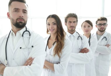 professional team of doctors therapists