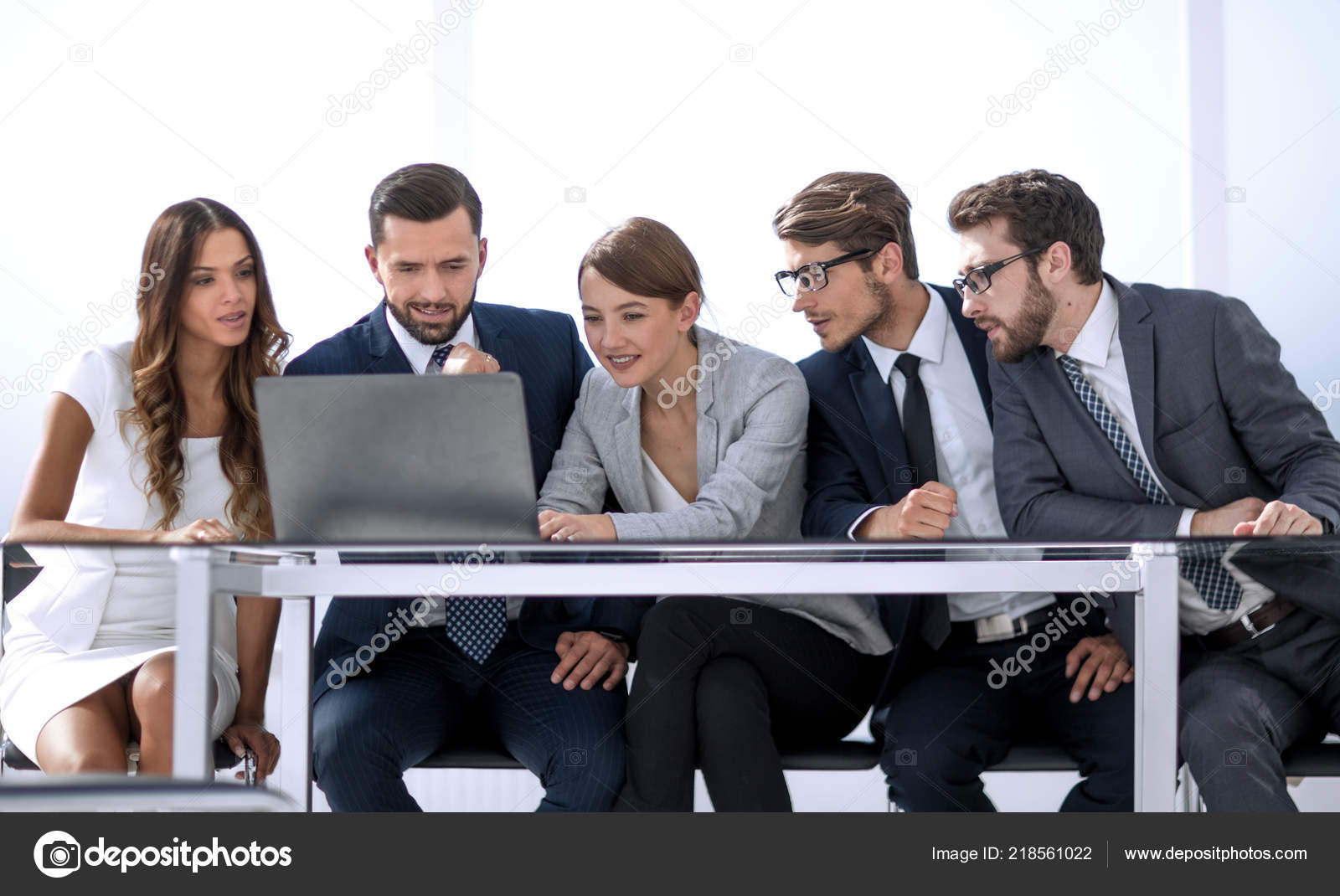 Group Of Business People Brainstorming Together In The