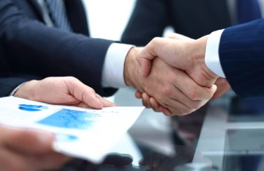 close up. handshake business colleagues