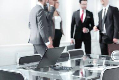 blurred team in meeting