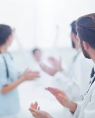 Hintergrundbild einer Gruppe von Ärzten