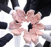obchodní tým zobrazeno otevřené dlaně