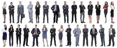 Successful business people isolated on white background . photo collage stock vector