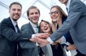 Zahájit podnikání lidí týmové spolupráce ruce dohromady