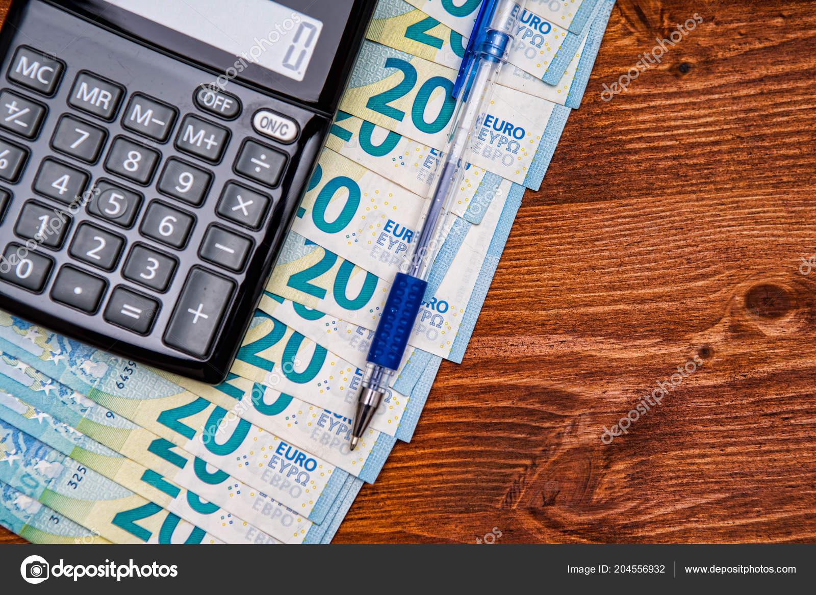 Financial Background Money Calculator Table Pen Stock Photo By C Kalnenko 204556932