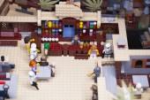 Rusko, 12. dubna 2018. Konstruktor Lego Star Wars. Epizoda Iv, Luke Skywalker a Obi-Wan Kenobi v baru Mos-Aisli, Tatooine