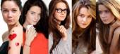 Fotografie Koláž pět vlasy modely
