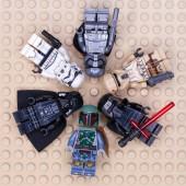 RUSSIAN, SAMARA - JANUARY 24, 2019. LEGO STAR WARS. Minifigures Star Wars Various Characters