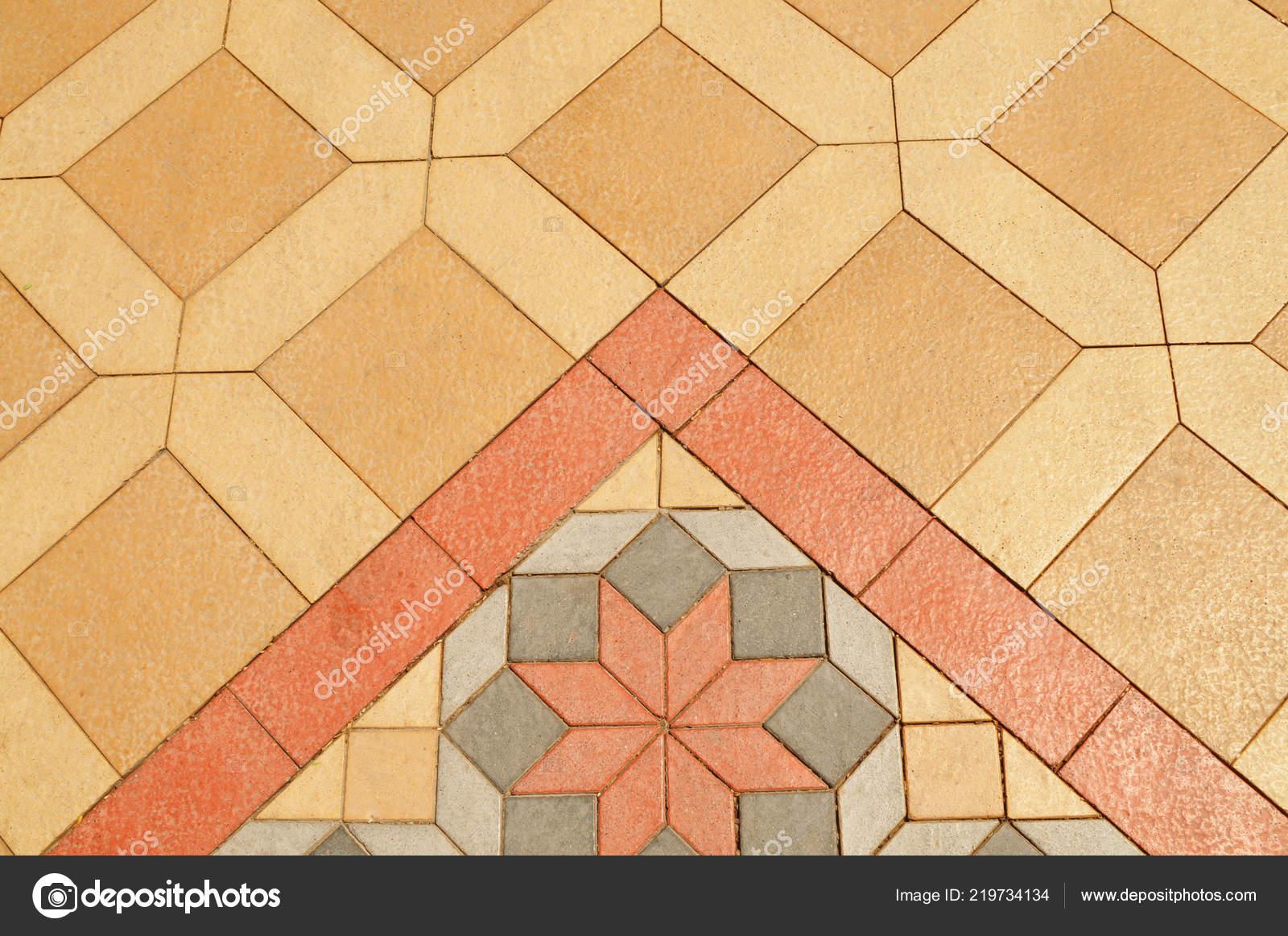 Beige rossi grigi piastrelle ceramica pavimenti sfondo con motivo