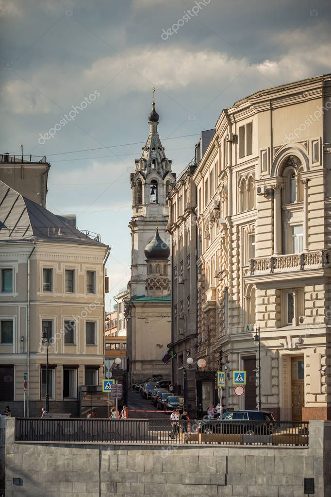Фотообои Moscow center with Cathedral  domes