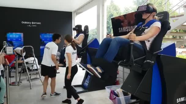 Modern VR technilogy in motion
