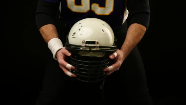 Helmet of American Football Player