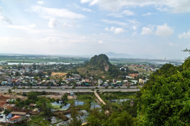 Danang Marble mountains It is a group of five marble and limestone mountains, Non Nuoc Village. Da Nang City, Vietnam, Asia
