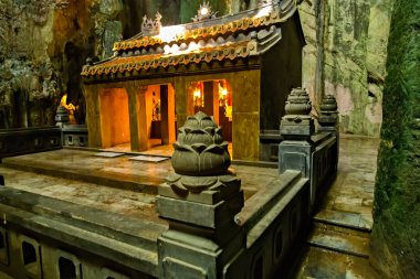 A shrine within a cave, Huyen Khong Cave Marble mountains, Vietnam