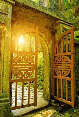 Chinese Temple sun Gate Huyen Khong Cave where on Thuy Son Mountain Da Nang city, Vietnam, Asia