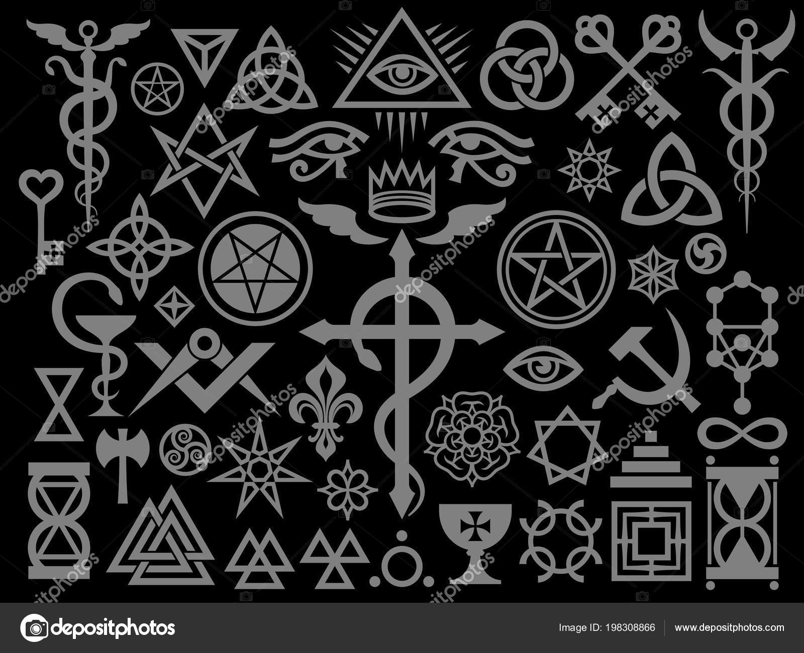 Medieval sigils | Medieval Occult Signs Magic Stamps Sigils