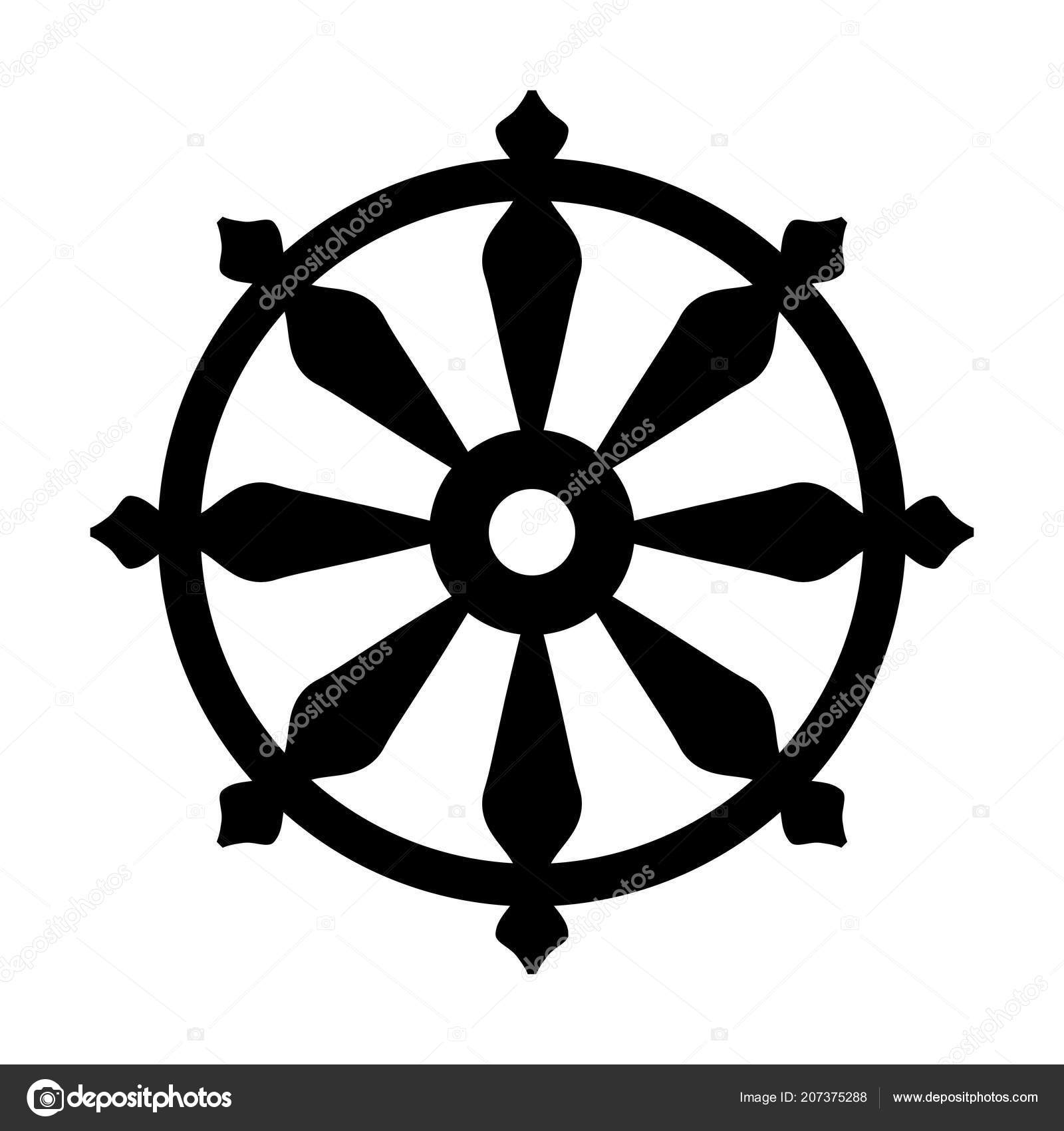 Wheel Samsara Oriental Sacral Religious Symbol Reincarnation Cycle