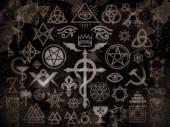 Medieval Occult Signs And Magic Stamps, Sigils, Locks, Knots. Mystic symbols of the Illuminati, Masonic Rituals and Black Magic. (Vintage Grime Edition).