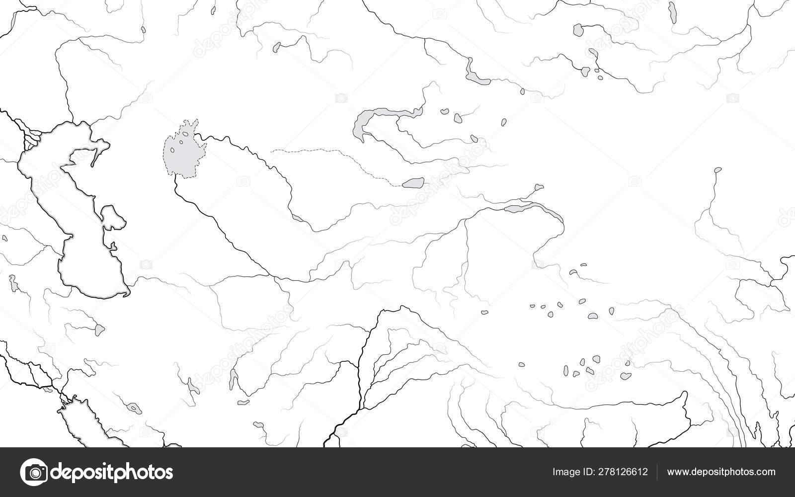 Picture of: World Map Of Central Asia Region Asia Interior Kazakhstan Turkmenistan Uzbekistan Turkestan Afghanistan Caspian Sea Karakum Desert Altai Mountains Geographic Chart With Landscape Stock Vector C Photon 278126612