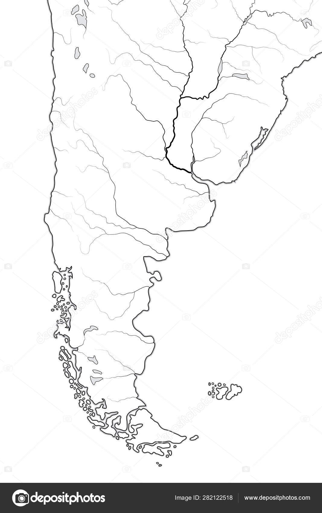 World Map of PATAGONIA in SOUTH AMERICA: Argentina, Chile ...