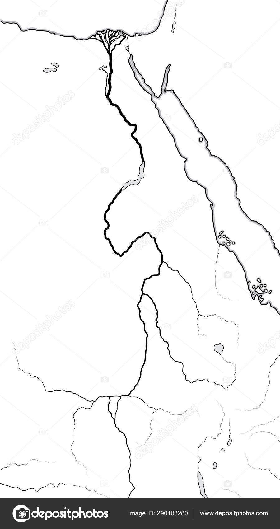 World Map of The NILE RIVER Valley & Delta: Africa, Ancient ...