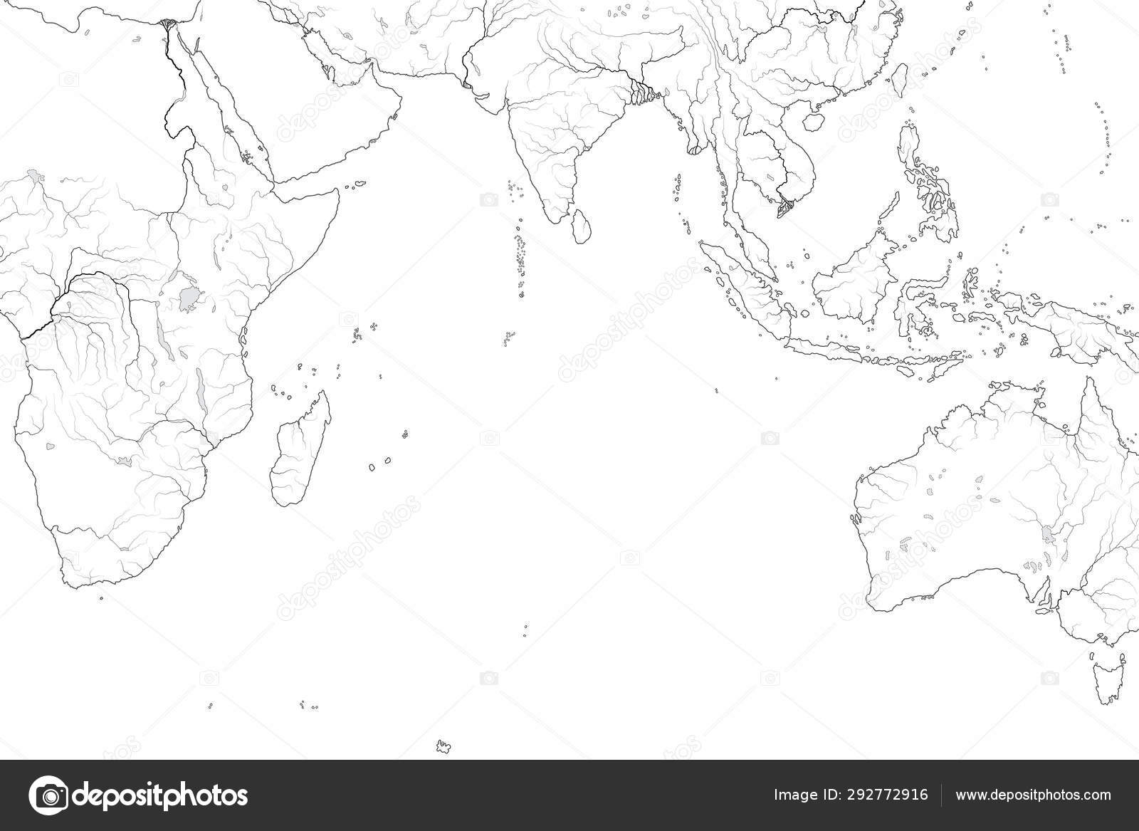 World Map Of Indian Ocean Erythraean Sea Arabian Sea