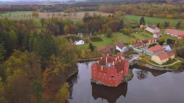 Zámek Cervena Lhota Česká republika - letecký pohled - cestování a architektura video