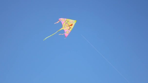 Drak s barevné ocásky. Světlé barevné draka vesele vlající proti obloze