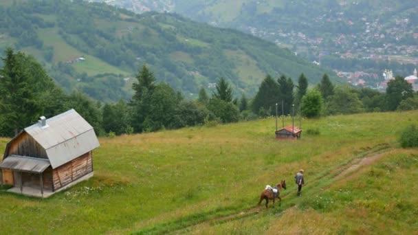 Foggy morning landscape at Carpathian mountains. Ukraine destinations and nature