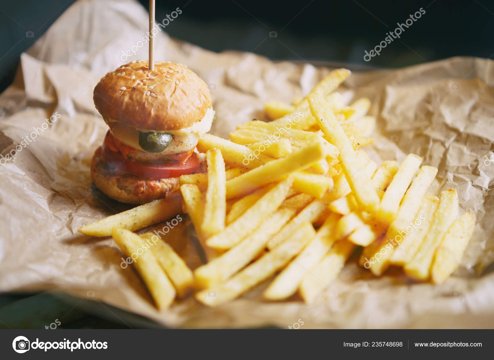 Tasty Little Baby Burger Cafe Menu Fast Food Restaurant Dish Stock Photo C Hurricanehank 235748698