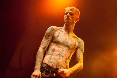 MOSCOW - 10 NOVEMBER, 201 : Colson Baker known as Machine Gun Kelly presents his new album General Admission in Yotaspace club