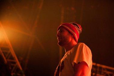 MOSCOW - 7 DECEMBER, 2015: Big concert of Max Korzh at Stadium Live nightclub