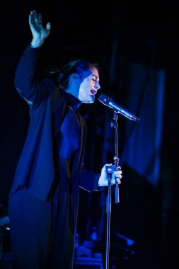 MOSCOW - FEBRUARY, 16: Jessie Ware performing live in Moscow, Russia at Yotaspace nightclub on 16 February 2015