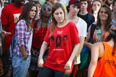 MOSCOW - 6 AUGUST, 2016: Youth Festival Faces & Laces in Gorky Park gathered designers, tattoo masters, graffiti painters, DJs, shops and auto tuners.