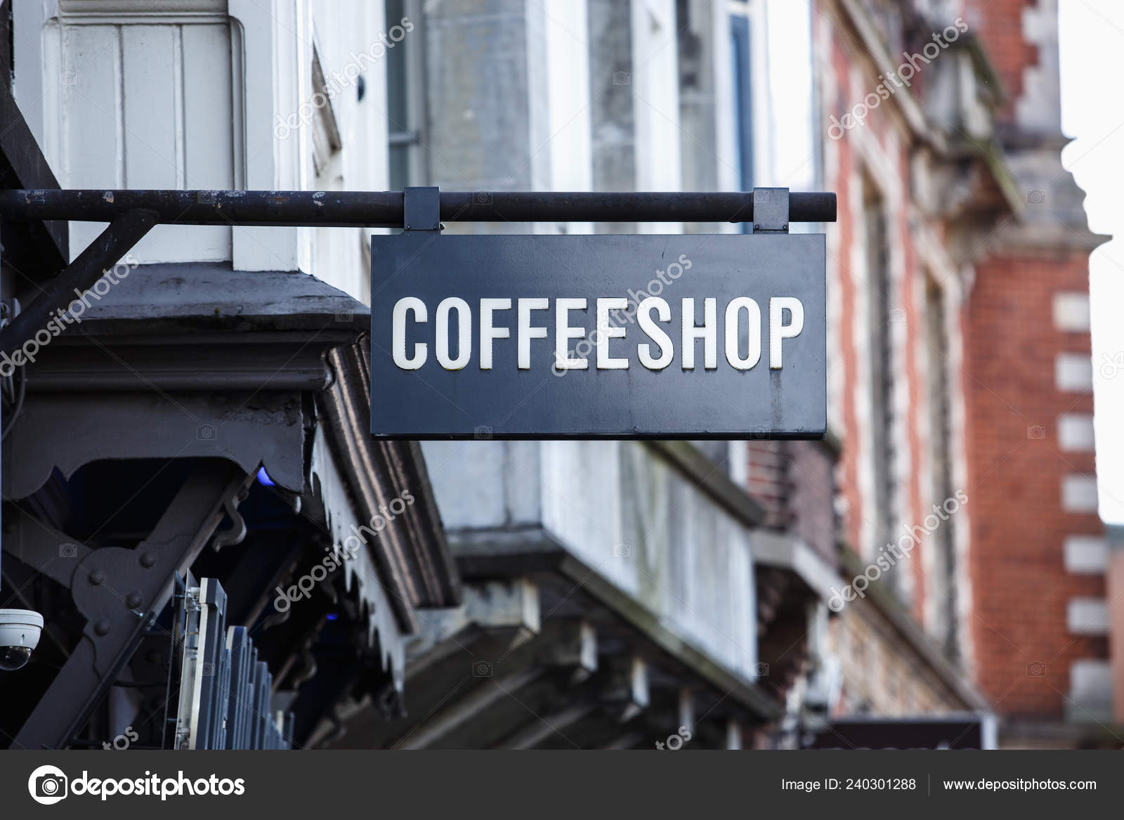 Coffeeshop Signboard Cannabis Cafe Amsterdam City