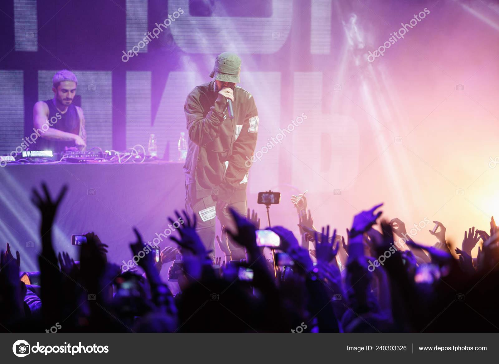 Moscow February 2017 Big Hip Hop Music Festival Night Club