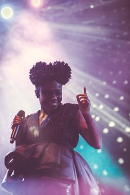 MOSCOW - 13 MARCH, 2015 : Morcheeba and Skye Edwards in Moscow