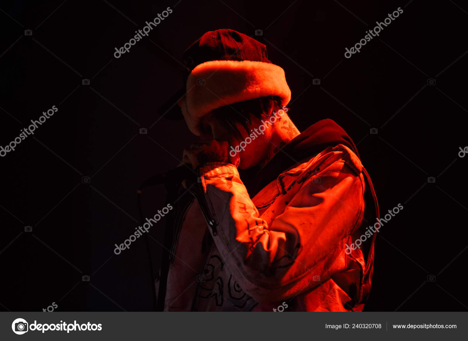 Moscow March 2017 Famous American Emo Trap Singer Lil Peep