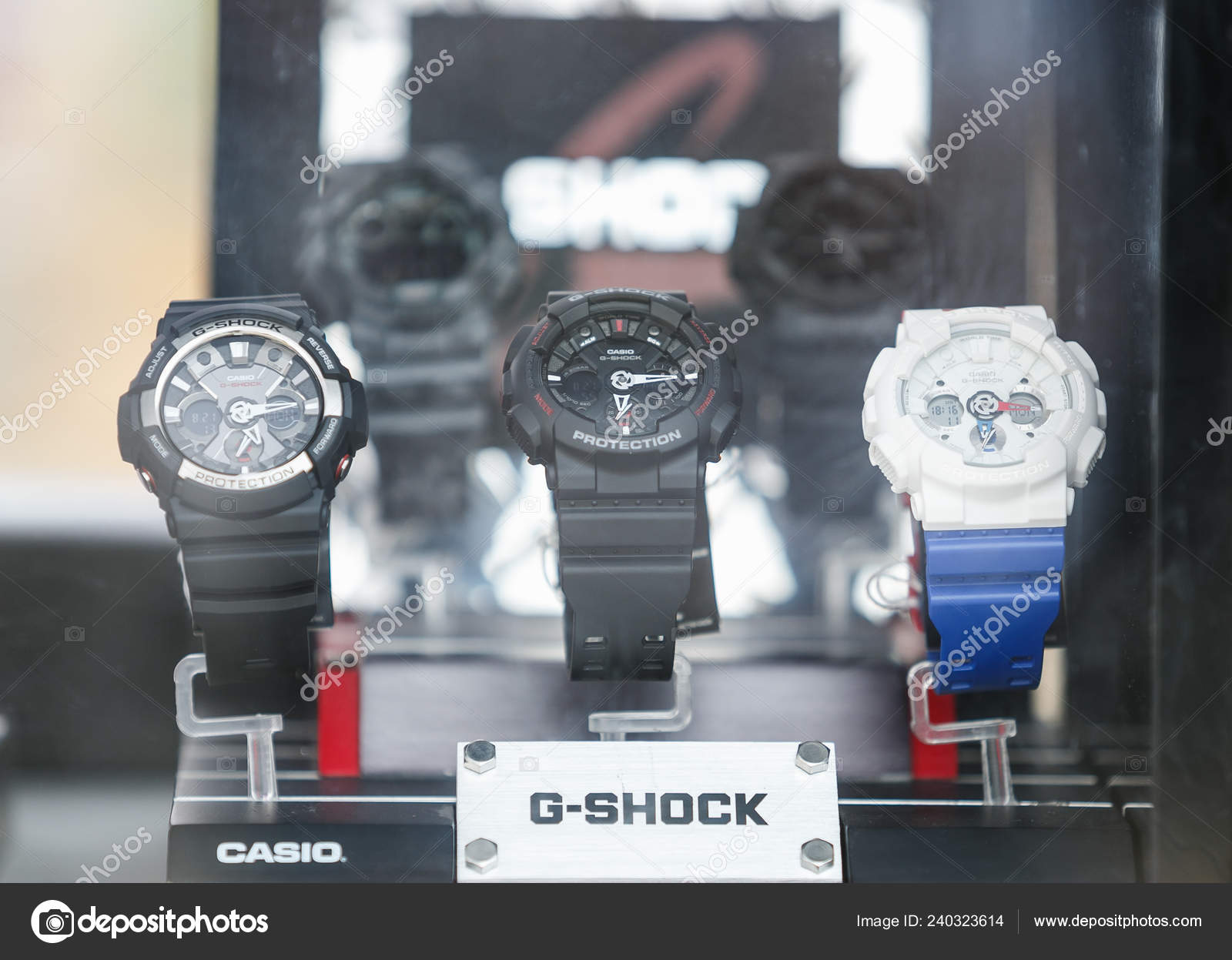 7b7179dcf2f7 Odessa Ukraine August 2017 New Casio Shock Wrist Watches Sale — Stock Photo