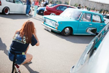 MOSCOW - 6 AUGUST, 2016 : Faces & Laces Festival for youth in Gorky Park. Fashion, car tuning, graffiti, break dance and DJ shows.