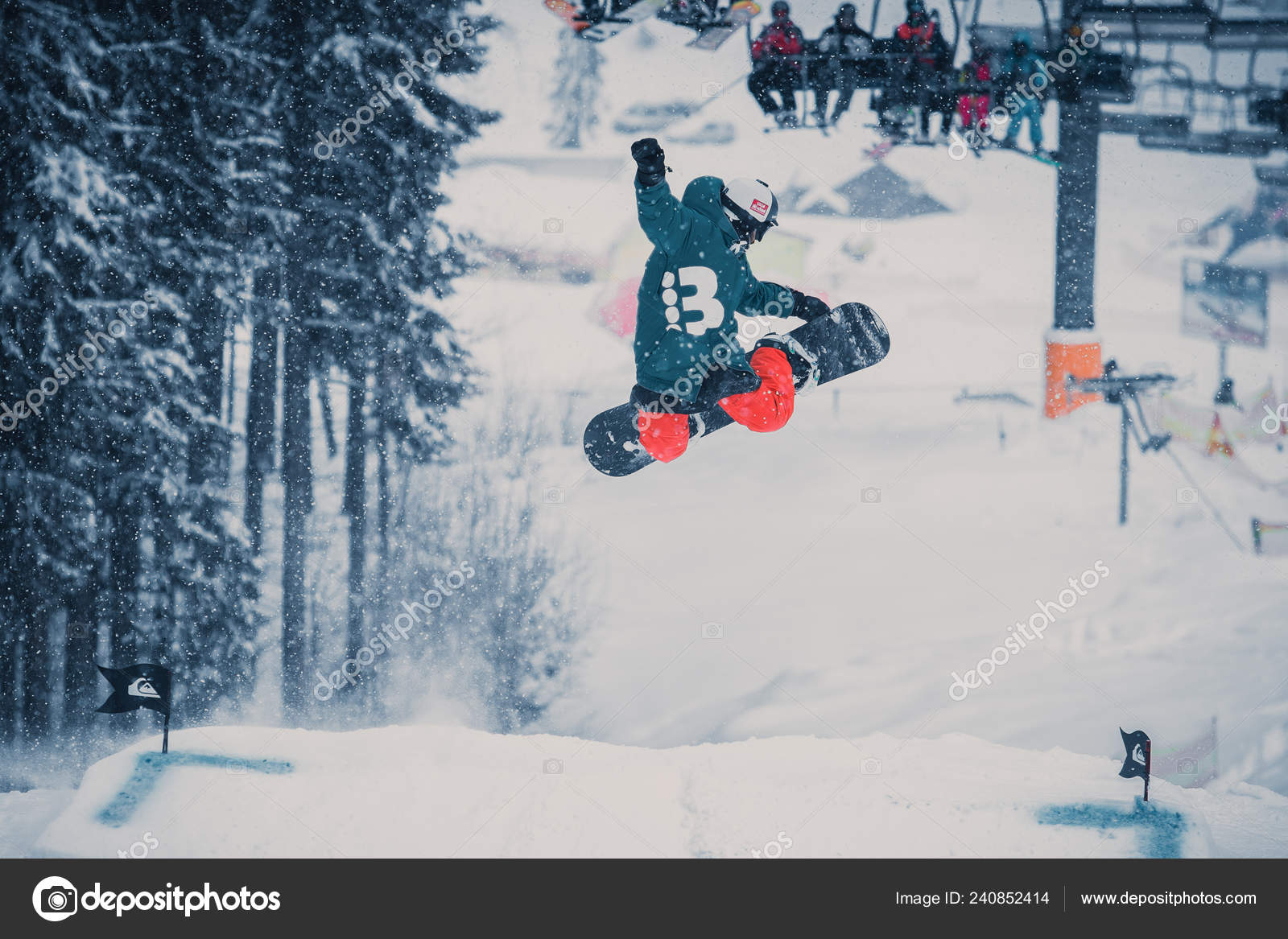 Bukovel Ukraine March 2018 Snowboard Contest Winter Park Young Athletes Stock Editorial Photo C Hurricanehank 240852414
