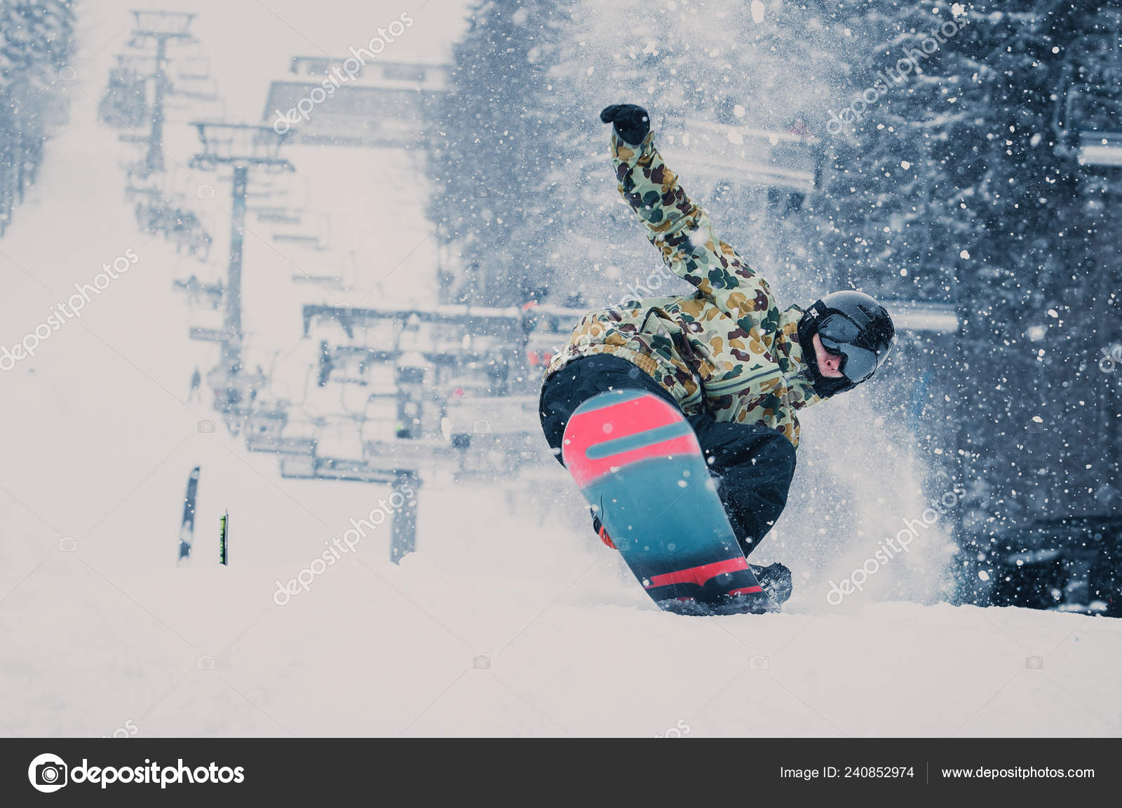 Bukovel Ukraine March 2018 Snowboard Contest Winter Park Young Athletes Stock Editorial Photo C Hurricanehank 240852974